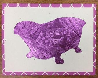 Purple Claw Foot Bathtub All Occasion Card