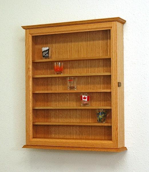 48 Oak Shot Glass Display Case