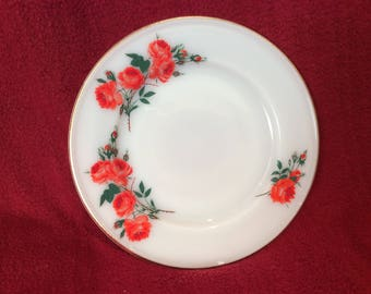 "Pyrex JAJ Rose Tea or Side Plate 6.5"" Diameter circa 1961"