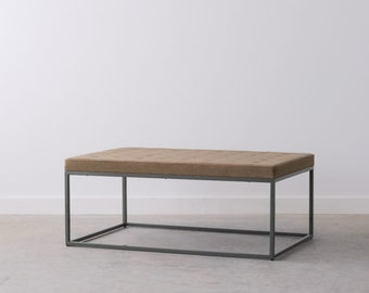 SAMPLE SALE - Upholstered Coffee Table - Only 1 Available