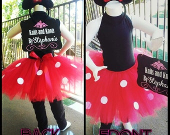 Minnie tutu/crochet set (made to order)