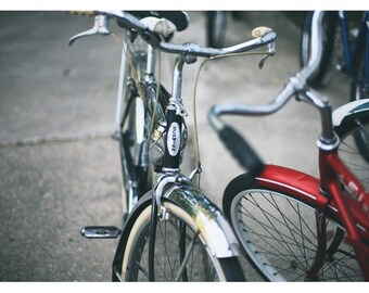 Bicycle Photograph - Bike Art - Schwinn Bicycle - Summer Rides - Fine Art Photograph - Home Decor - Red Art - Bicycle Print - Alicia Bock