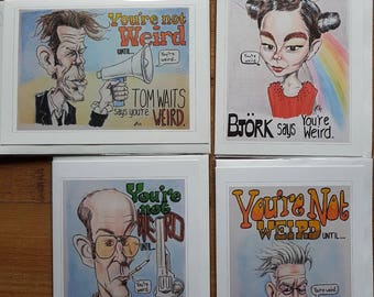 """Greeting Card Bundle - 4 Cards - """"You're Not Weird Until"""""""