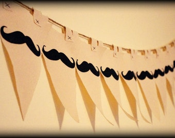 Mustache Banner-Little Man party Banner-party props-Little Man-Baby shower banner-Mustaches party banner-canvas banner-birthday