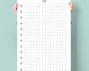 Large Calendar 2018 PRINTABLE. Minimalist Wall planner 2018 Business Planner A1 Family Wall Planner Life calendar Yearly Goals Planner