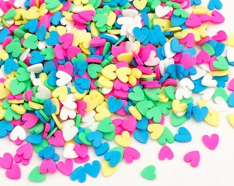 20g Candy Sprinkles - Heart / 5 Colors Kawaii Cute Fake Food Polymer Clay Cell Phone Deco