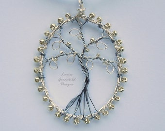 Silver necklace, tree of life, MADE TO ORDER, wire tree necklace, nature lover gift, tree jewelry, gift for her, tree-of-life, unique gift