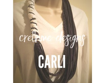 CARLI Statement Necklace in Gray & White