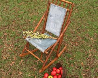 Vintage Victorian Rocking Chair / Wooden Rocking Chair / Vintage Rocking Chair