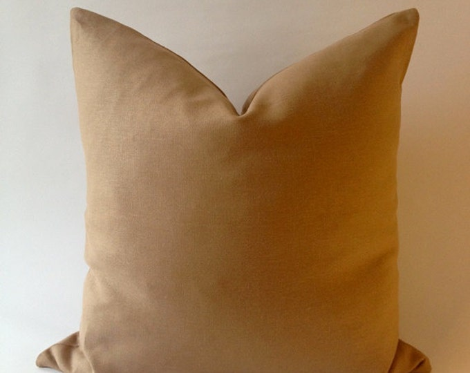 20x20 Cream Linen Decorative Throw Pillow Cover -European Linen -Invisible Zipper Closure- Cushion Cover
