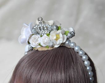 "BJD 6/7 ""White princess"" headband"