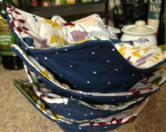 Microwave safe bowl cozies - set of two