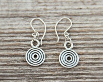 Silver Kurzeme Sun symbol earrings