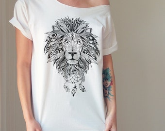 Aztec Lion Off The Shoulder Top Custom Shirts Customize Your Shirt Funny Custom Tshirt Funny Tshirts Custom Tee Personalized Tshirt