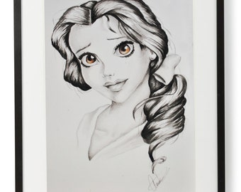 Belle from Beauty & the Beast Handmade Painting