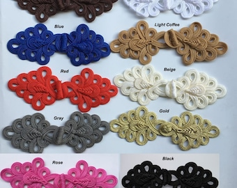 Extra Big Size Handmade Sewing Fasteners Chinese Closure Knot Cheongsam Frog Buttons 16color pick