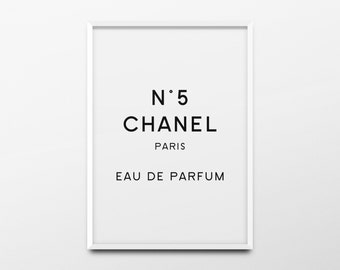 "Coco Chanel Print ""Chanel Paris Eau de Parfum"" Chanel Decor, Chanel Poster, Chanel Quote, Fashion Poster, Fashion Print, Girls Room Wall Art"