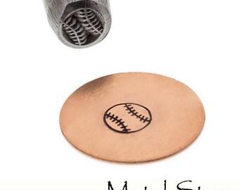 Baseball Softball Metal Design Stamp for sports themed jewelry design