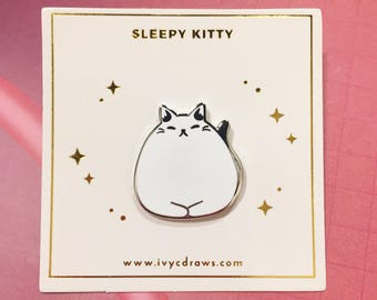 Fat Cat Enamel Pin