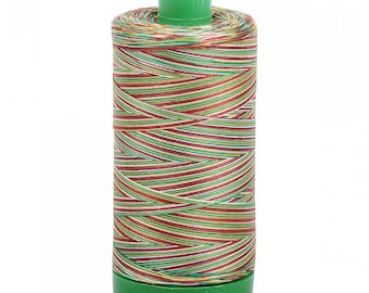 SALE Aurifil Variegated Thread; Leaves 4650; Mako Cotton 40wt Thread; Large spool: 1094 yards; machine embroidery, applique, quilting