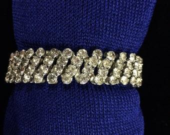 Rhinestone Expandable Bracelet - Vintage  #9
