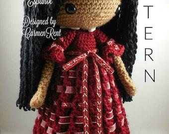 Angela- Amigurumi Doll Crochet Pattern PDF