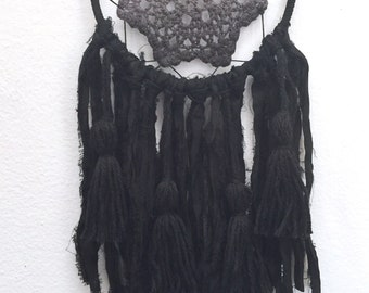 Wall Hanging Dreamcatcher, Black Dreamcatcher, Doily Dreamcatcher, Dreamcatcher