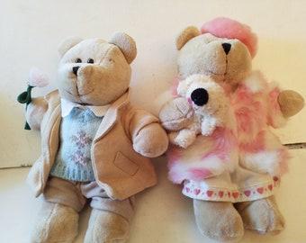 Boy and girl bear