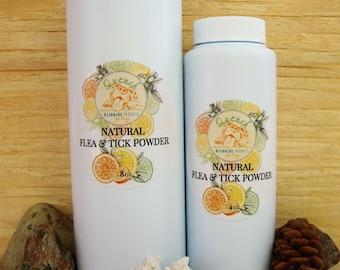 Natural Flea and Tick Powder: Herbal flea and tick powder, natural flea repellent for dogs, no more fleas, canine flea powder