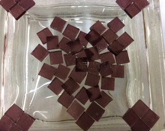 PURPLE PLUM STIPPLE Stained Glass Mosaic Tile Supply A25