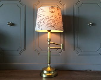 Vintage Table Lamp Brass Desk Lamp ( without shade )