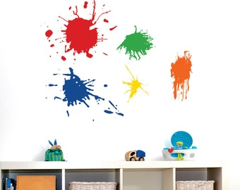 Playroom Wall Decal // 5 Paint Splotches // Playroom Vinyl Wall Art // Childrens Wall Decal // Craft Room Decor