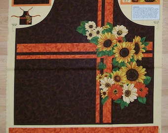 An Apron Harvest Abundance Cotton Fabric Panel Free US Shipping By Wilmington Prints