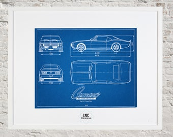 Car blueprint etsy chevy camaro blueprint car malvernweather Image collections