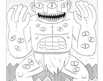 Eye Monster- Original A3 Drawing