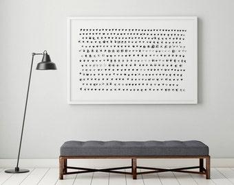 Large Wall Art, Minimalist Print, Heart Art, Abstract Art, Grey Art Print, Gray Art, Nursery Wall Art, Minimalist Art, Nursery Print, 24x36