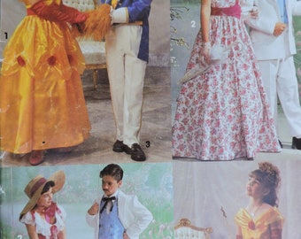 Beauty & The Beast Rhett Butler Scarlet OHara Stage Costume Stage Play Simplicity 7978 / 0643 PATTERN Sz. 7 - 14