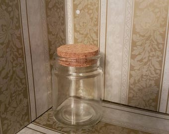 Simple Clear Glass Jar with Cork Lid