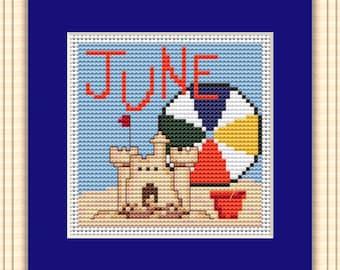 June 2018 - Block of the Month - DIY Cross Stitch Pattern, PDF download, DIY