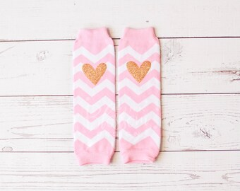 Baby Legwarmers, Pink Gold Legwarmers, Kids Striped Legwarmers, Pink Chevron Legwarmer, Glitter Legwarmers, Birthday Outfit, Girls Legwarmer