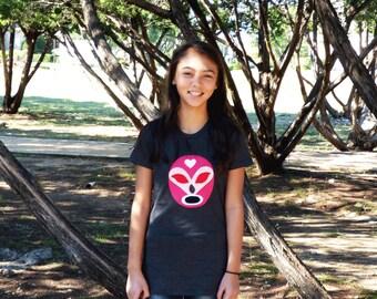 Luchador Rosa - Pink Mexican Wrestler Women T-Shirt