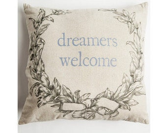 dream pillow,outdoor linen pillow,burlap pillow,outdoor pillows,linen pillow,wreaths,welcome pillow,outdoor lights,outdoor mat,outdoor
