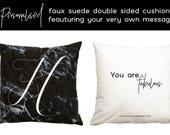 Personalised Marble Cushi...
