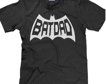 Batdad Shirt, Father's Day Gift, Dad Shirt, Batdad T Shirt, Father's Day Shirt, Superhero Shirt, Batdad, Dad T Shirt - Item 3630 - White Ink