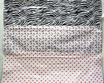 Fabric OilCloth Fabric by the yard-Hearts-Cherries-Zebra-Table Cloth PVC Film