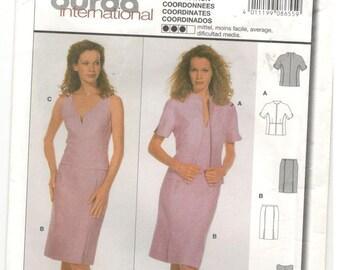 Burda International 8655 Sizes 10, 12, 14, 16, 18, 20 Womens and plus size coordinates: Pencil skirt, princess seam top and jacket pattern