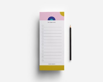 Pensamientos Notepad - To Think List - To Do List - 3.5 x 8.5 inch Note Pad Notes - To write down intentions, wishes or goals.