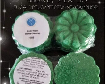 Aromatherapy Shower Steamers,  Snotty Nose Shower Steamer,  Aromatherapy Bath Bombs