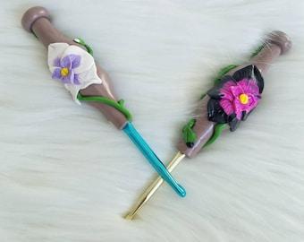 Orchid crochet hooks