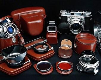 Vintage VOIGTLANDER PROMINENT, NOKTON 50mm f/1.5 Fast Prime Lens, 35mm Rangefinder Film Camera with Accessories, Circa:1954/1955, Rare Find!